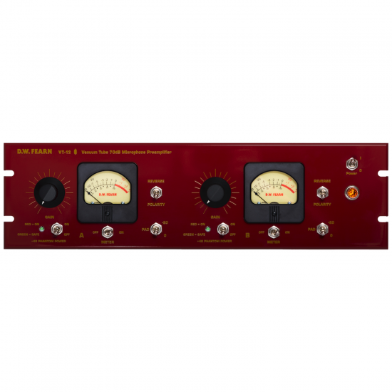VT-12 Dual-Channel 70dB Microphone Preamplifier